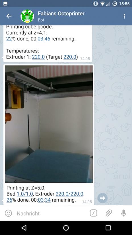 Best OctoPrint Plugins - telegram