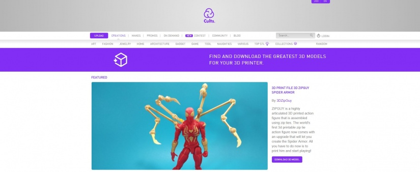 Best Websites for 3D Printing Models: Best Sites for 3D Printer Files - cults