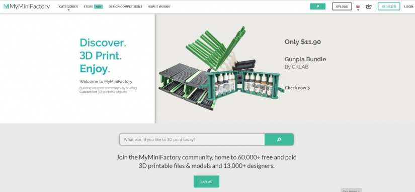 Best Websites for 3D Printing Models: Best Sites for 3D Printer Files - myminifactory