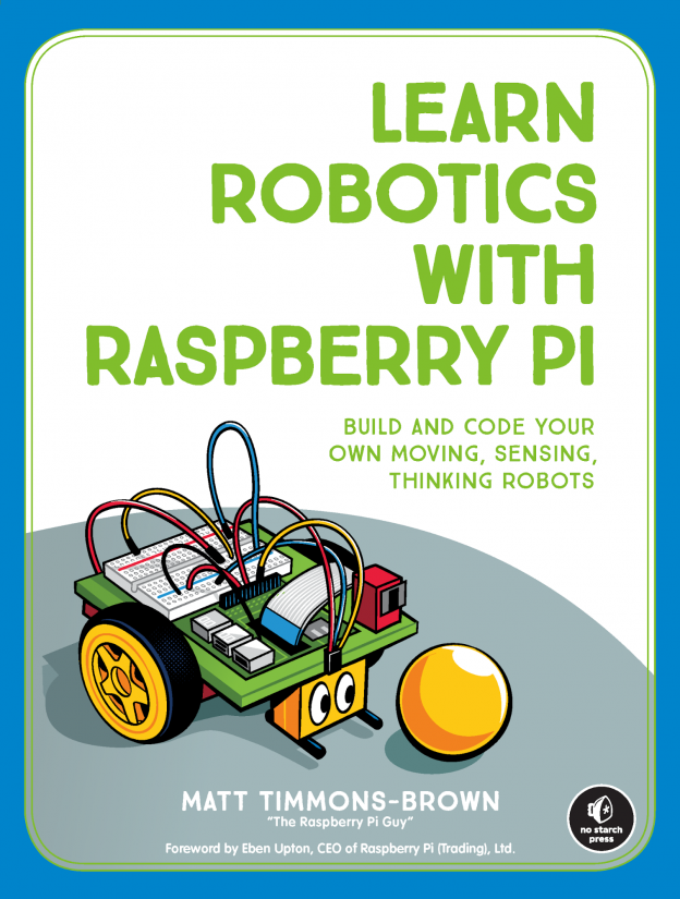 Book Review: Learn Robotics With Raspberry Pi - cover