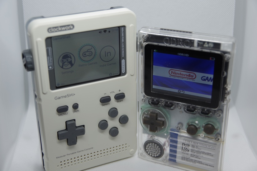 clockworkpi gameshell review - odroid go vs gameshell