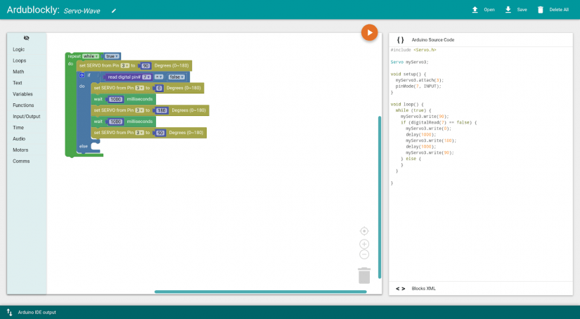 Introducing Ardublockly for Arduino