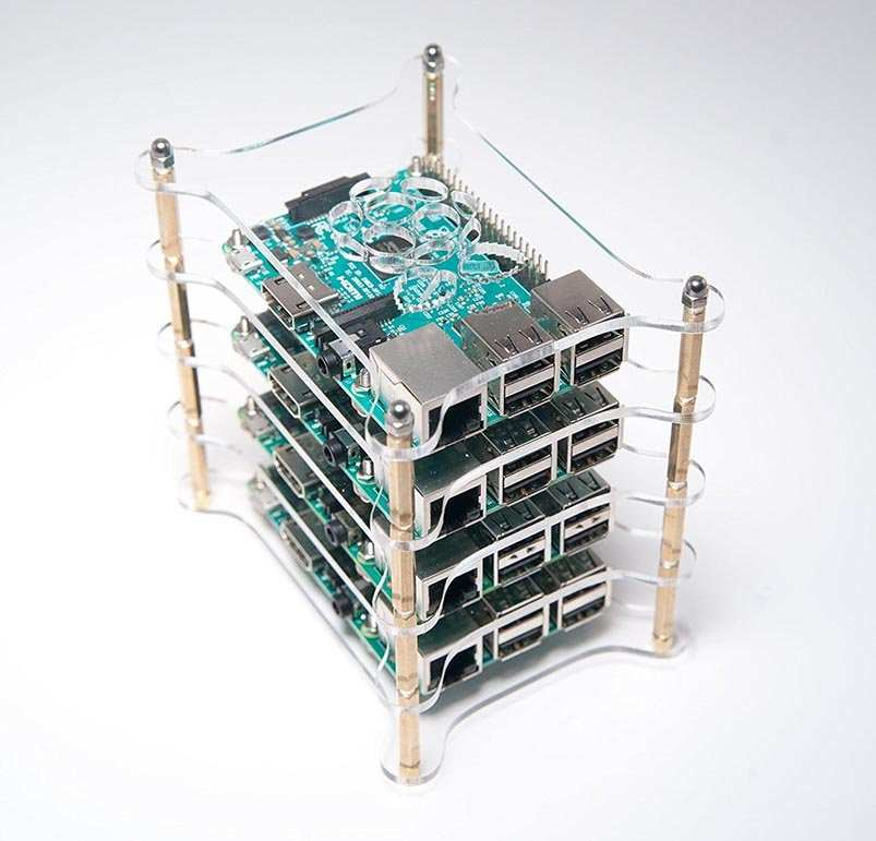 Best Raspberry Pi Cases - Raspberry Pi four layer complete stackable dog bone case