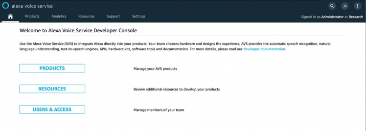 Figure 10, Alexa developer console