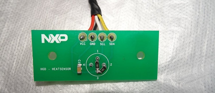 Modifications made to MLX90614 sensor board for stable Sipeed Longan Nano interfacing