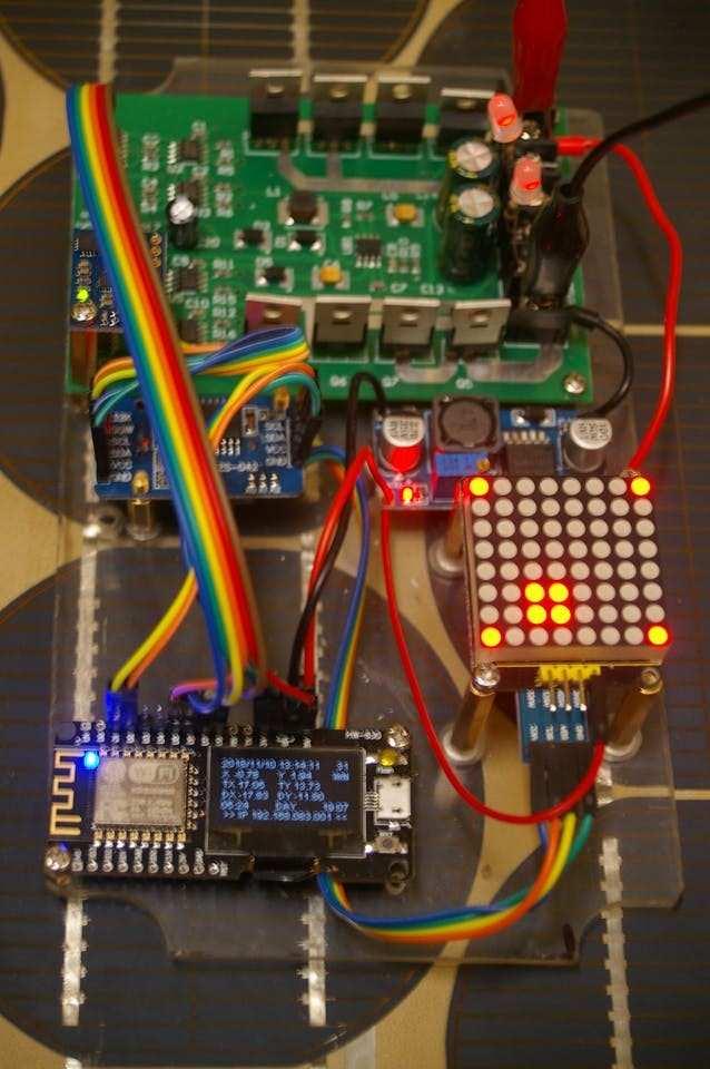 Final Unit with I2C LEd matrix. This has a 3.3V to 5V Level Converter soldered on bottom