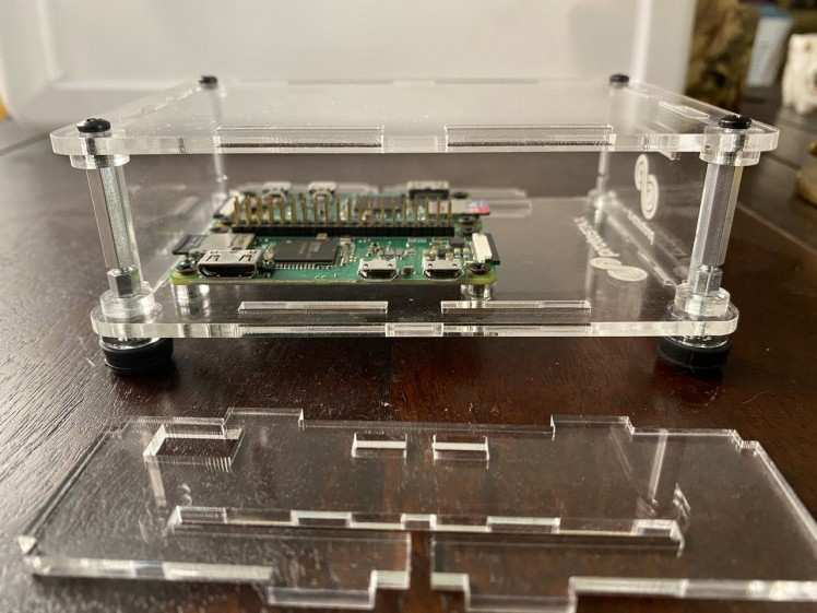 Prostax Enclosure for Raspberry Pi Zero has enough vertical clearance to stack 4 RPi Zeros.