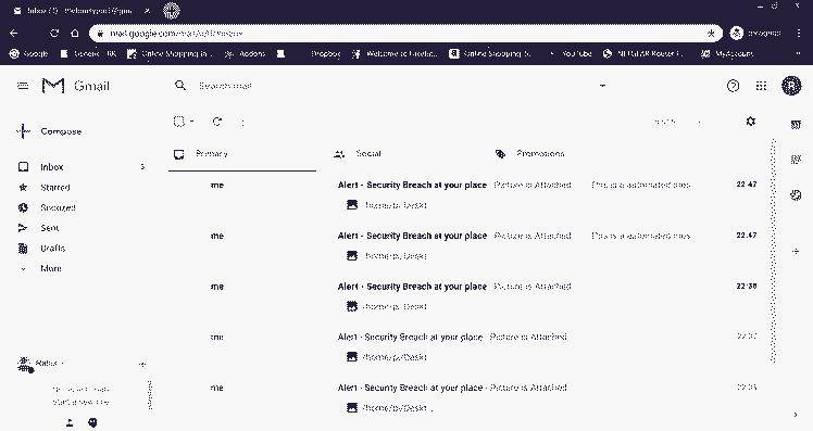 Screenshot of the Gmail