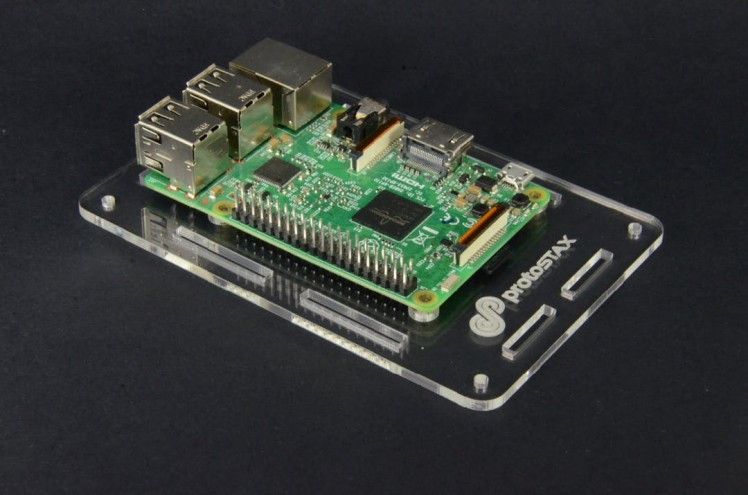 3. Place Raspberry Pi on PCB mounting spacers