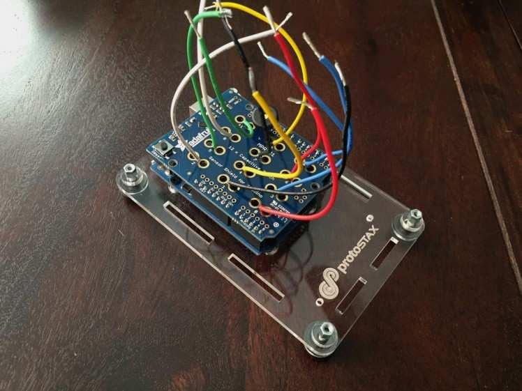 1. Plug shield into Arduino