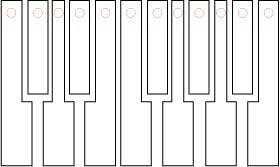 Piano Keys Template
