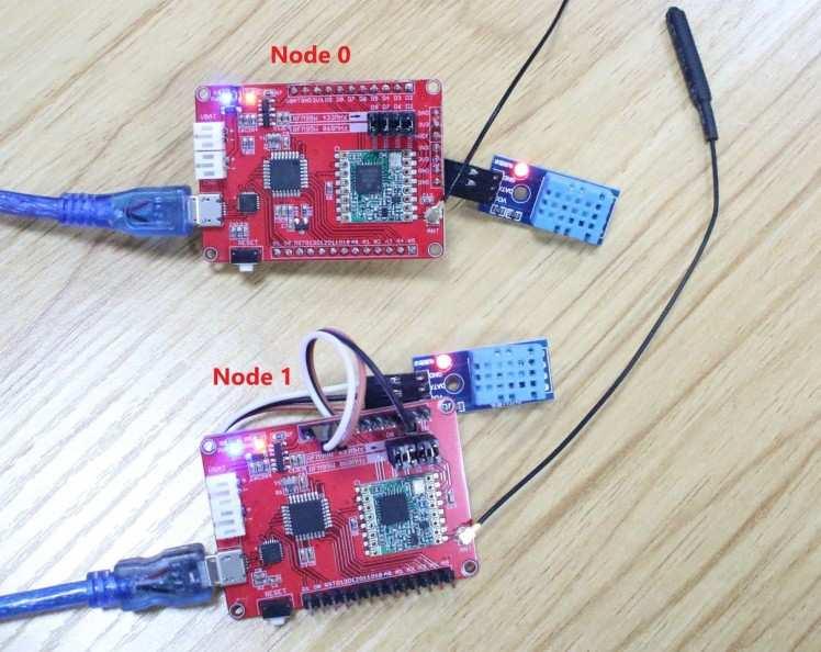 Node and sensor connection