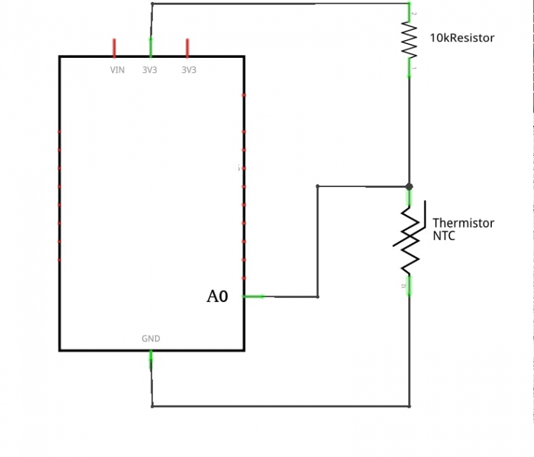 pool thermistor connection