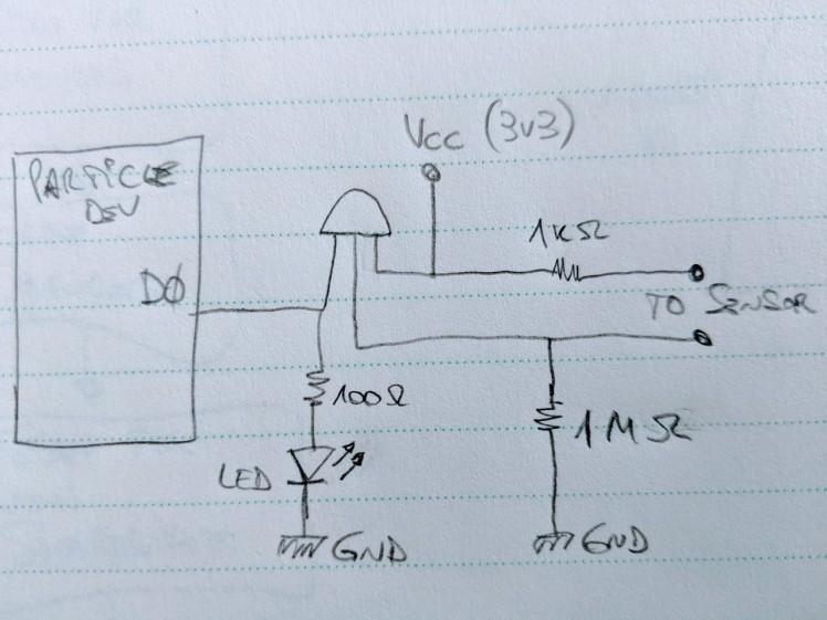 Water leak sensor schematic