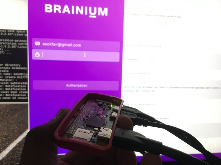 Brainium APP on Raspberry pi zero