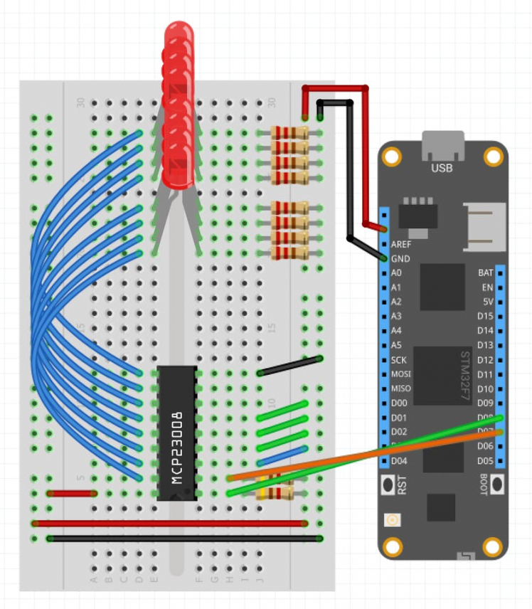 Connecting an MCP23008 to Meadow