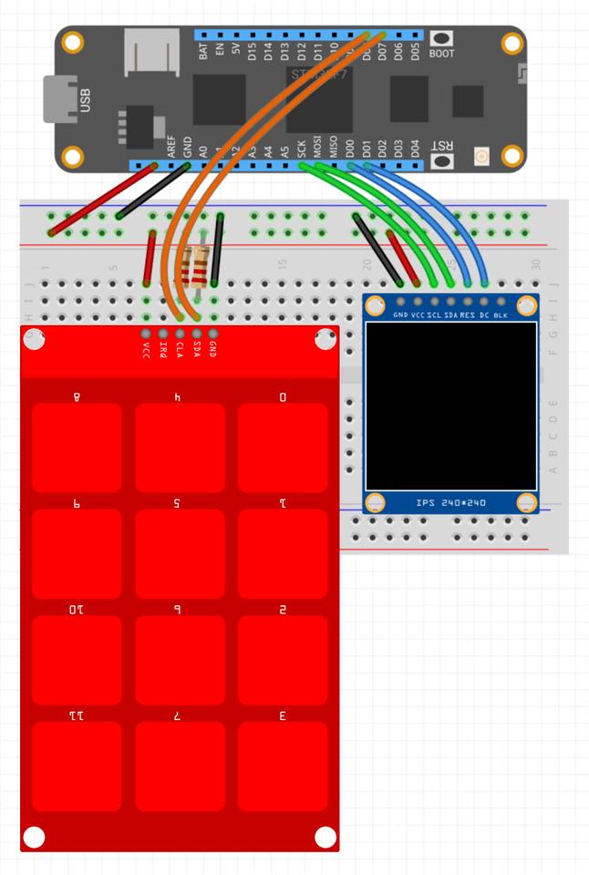 TouchKeypad Circuit Diagram