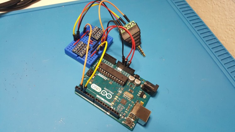 Arduino Uno with Logic Level Converters