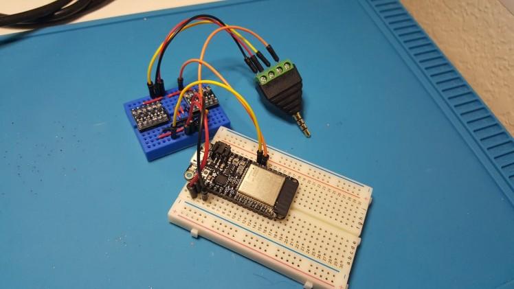ESP32 with Logic Level Converters