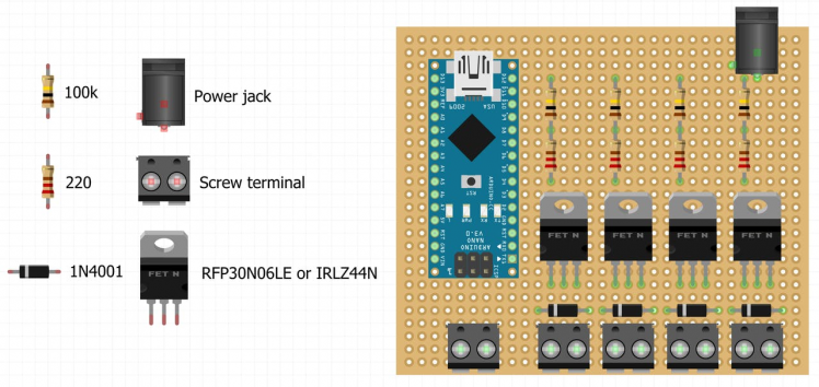 Circuit board component layout