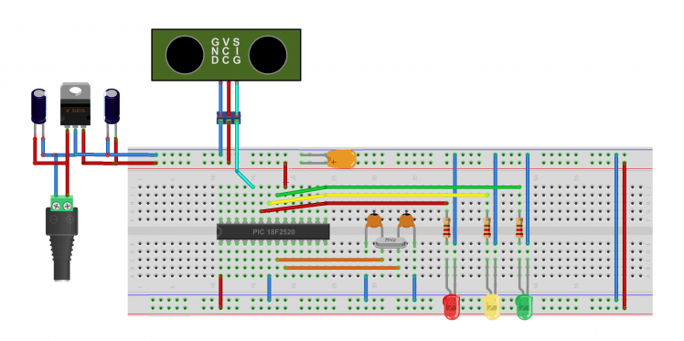 Parking Assistant With A Pic Microcontroller