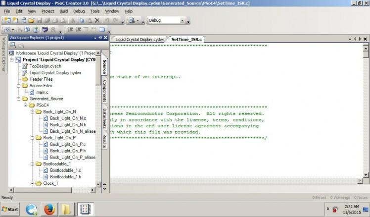 Psoc4 : Bootloader, Timer, Interrupts, Sleep, I/o, Lcd & Imo